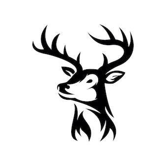 Icono de logo de cabeza de ciervo aislado