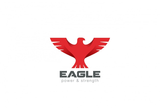 Icono de logotipo abstracto de eagle bird.