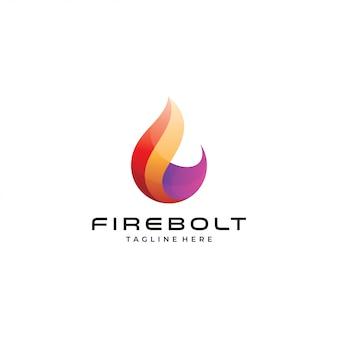 Icono de logotipo abstracto moderno fuego llama