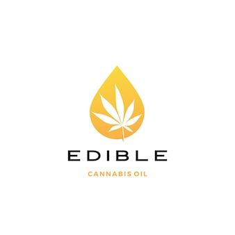 Ícono de logotipo de aceite de cannabis