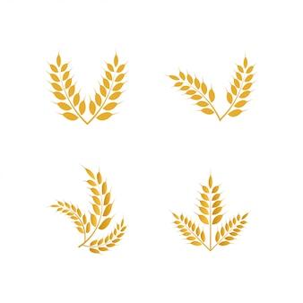 Icono de logotipo amarillo de trigo