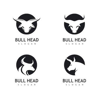 Icono de logotipo de cabeza de toro