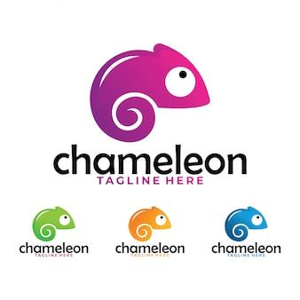 Icono de logotipo de camaleón