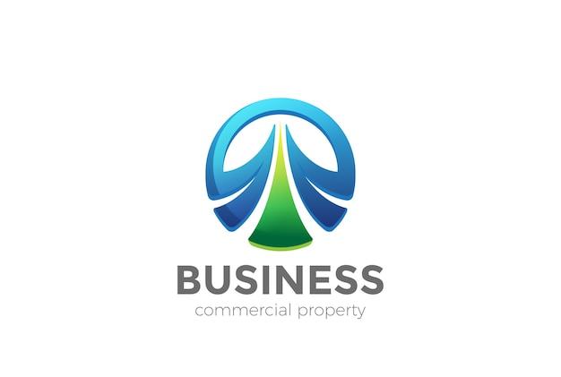 Icono del logotipo del círculo elegante.