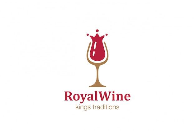 Icono de logotipo de copa de vino.
