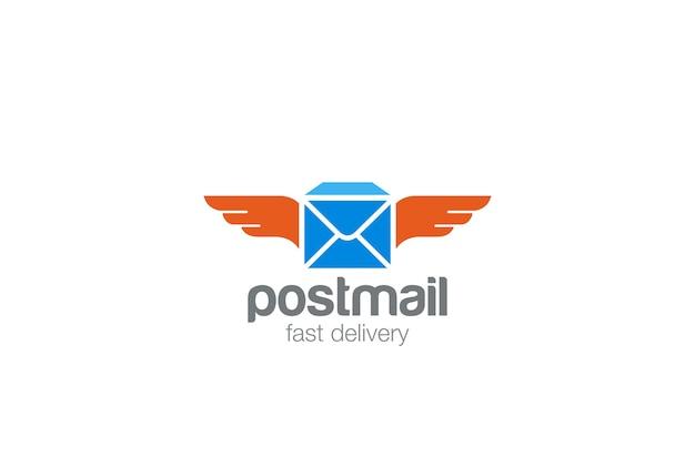 Icono de logotipo de correo postal.