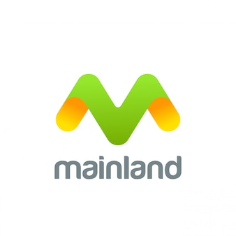 Icono de logotipo creativo letra m.
