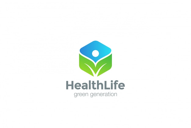 Icono de logotipo ecológico verde.