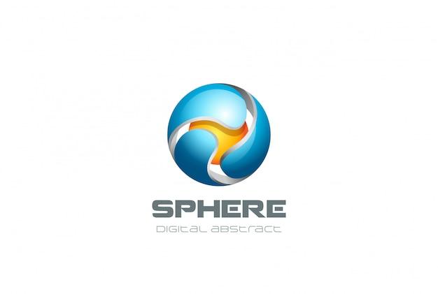 Icono de logotipo de esfera.