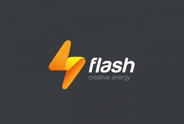 Icono de logotipo flash.
