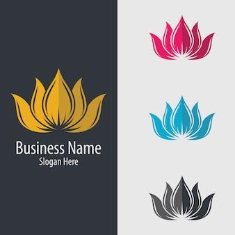 Ícono de logotipo de flor de loto