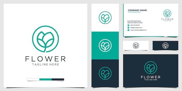 Icono de logotipo de flor