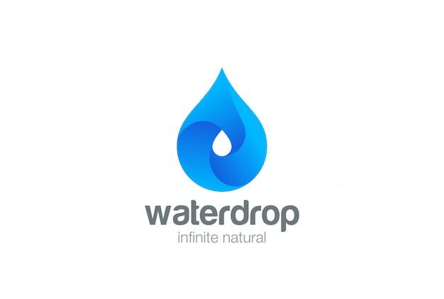 Icono de logotipo de gota de agua.