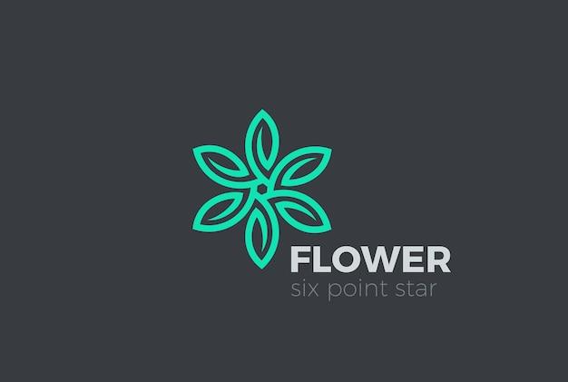Icono del logotipo de hojas verdes.