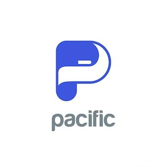 Icono de logotipo letra p