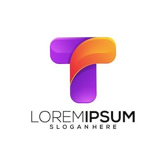 Icono del logotipo de la letra t