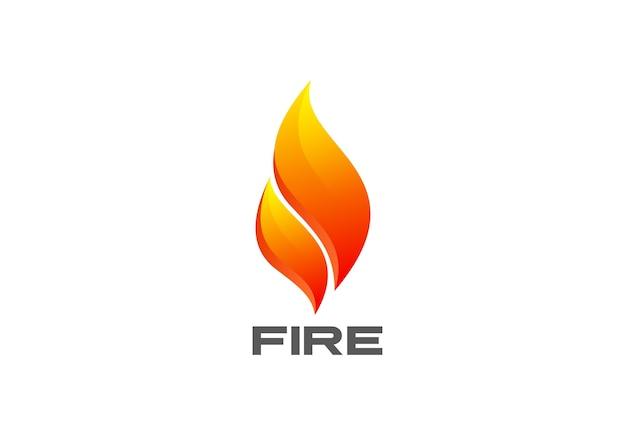 Icono de logotipo de llama de fuego.