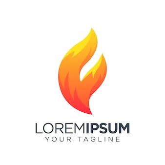 Icono de logotipo de llama
