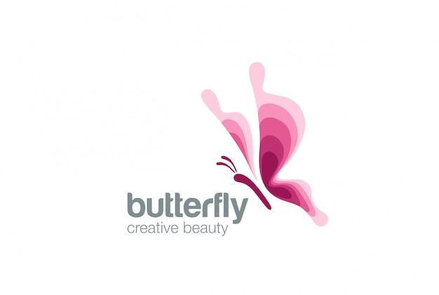 Icono de logotipo de mariposa.