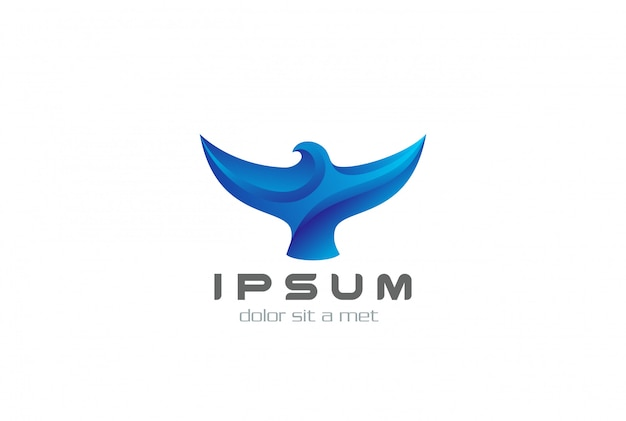 Icono de logotipo de pájaro abstracto.