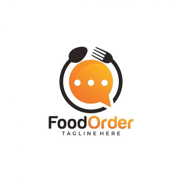 Icono de logotipo de pedido de comida en línea