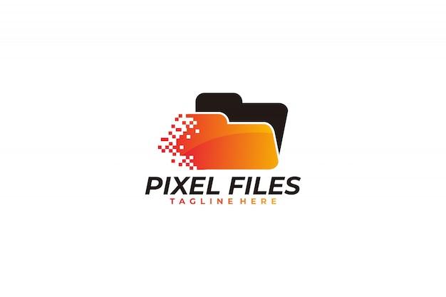 Ícono de logotipo de píxeles