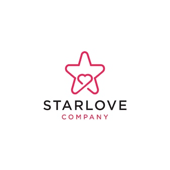 Icono de logotipo de starlove