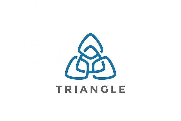 Icono del logotipo de triángulo