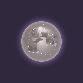 Icono de luna en el espacio profundo