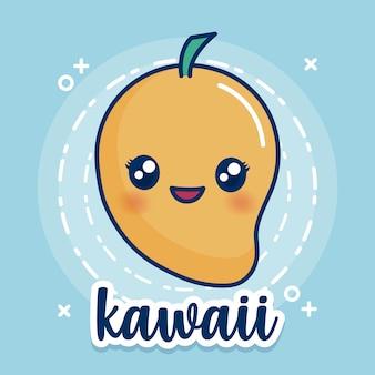 Icono de mango kawaii