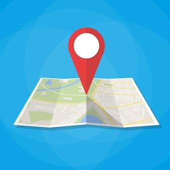 Ícono de mapa de navegación