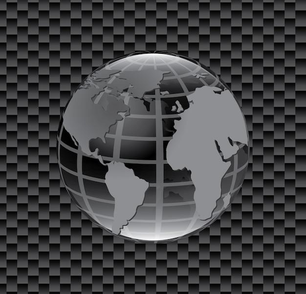 Icono de mapa del planeta