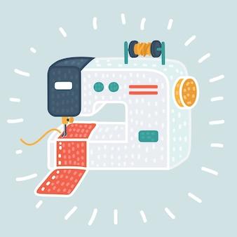 Icono de la máquina de coser. ilustración del icono de la máquina de coser para web