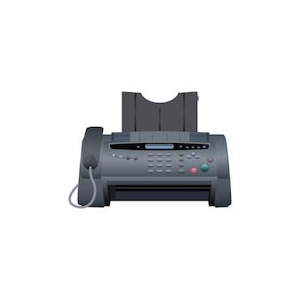 Icono de la máquina de fax. equipo de trabajo de oficina.