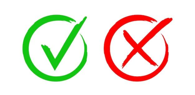 Icono de marca de verificación dibujado a mano. ilustración vectorial.