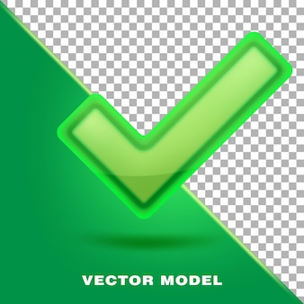 Icono de marca de verificación verde valor de marca sí ok aceptado correcto aprobado correcto correcto