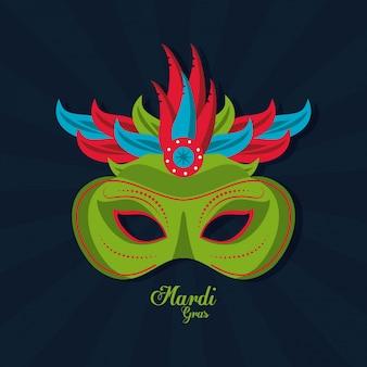 Icono de máscara de mardi gras