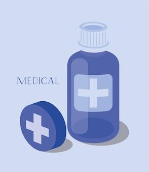 Icono de la medicina botella de drogas