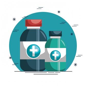 Icono médico de botella de drogas