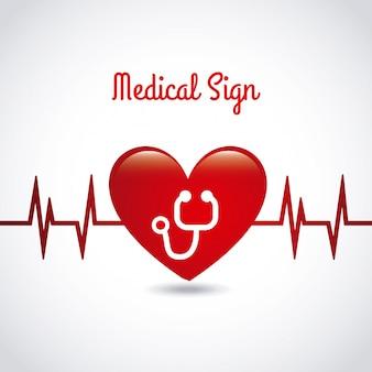 Icono médico sobre fondo gris ilustración vectorial