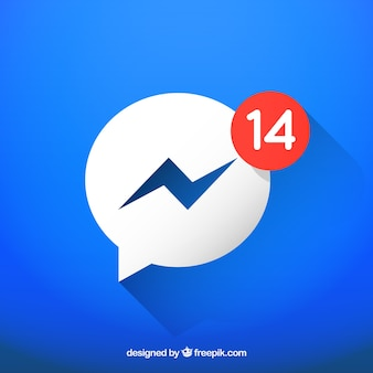 Icono de messenger con notificaciones