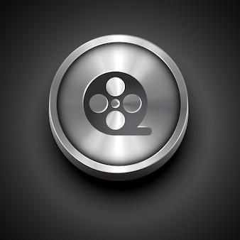 Icono de metal de vector