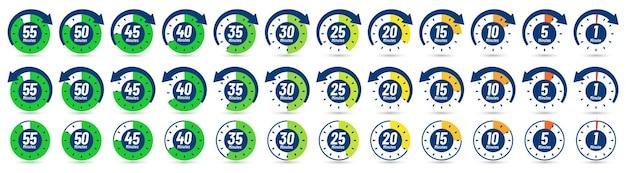 Icono de minutos de color