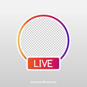 Icono moderno de streaming en directo con diseño plano
