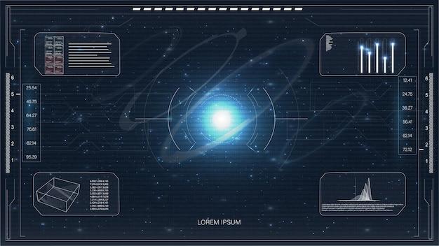 Icono moderno con hud para el diseño de fondo del juego
