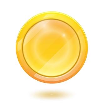 Icono de moneda de oro realista 3d.