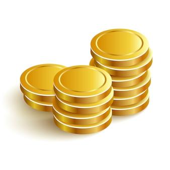 Icono de monedas de oro pago de eps