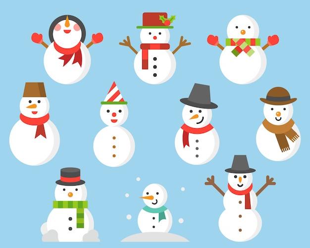 Icono de muñeco de nieve para invierno y navidad.