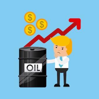 Icono del negocio de los precios del petróleo