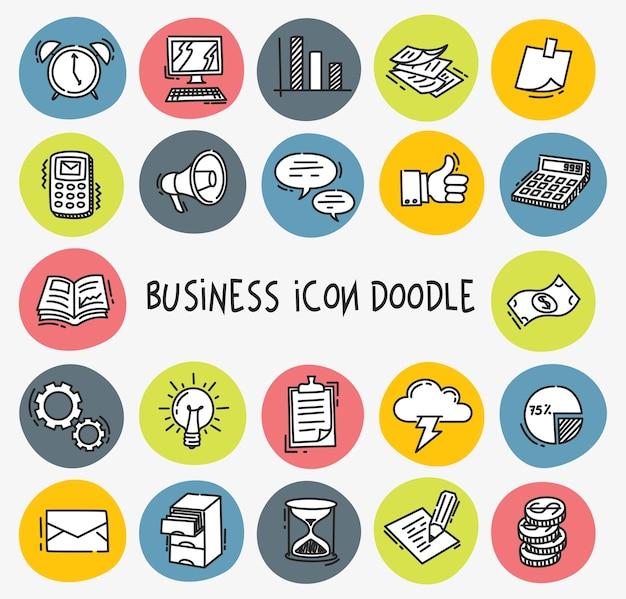 Icono de negocios en estilo doodle
